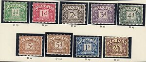 GREAT BRITAIN -  EDWARD VIII Postage Dues: 1936-37 Complete set - 2658