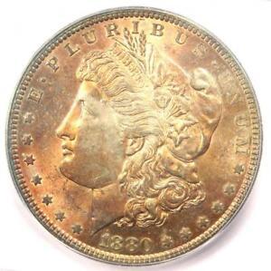 1880 Morgan Silver Dollar $1 (1880-P) - ICG MS66 - Rare in MS66 - $1,880 Value!