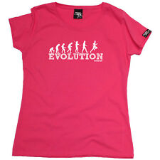 Running Tops T-Shirt Funny Novelty Womens tee TShirt - Evolution Running