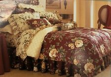 Waverly Garden Room Floral Manor King Bedskirt Dust Ruffle New