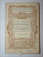 GIORGIO VASARI: Vita di BACCIO BANDINELLI 1913 Bemporad Urbini Illustrato tavole