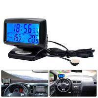 Temperatur Datum Anzeige LCD Digital Auto KFZ Uhr Multifunktion  Thermometer