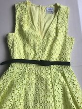 Erdem Lace Lemon Yellow Dress Size 10 AU UK