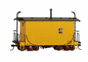 Bachmann 26563 On30 Data Only 18 ft. Logging Caboose (Yellow)