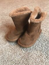 Arizona Toddler Girls Brown Faux Fur Lined Boots Sz 5