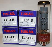 Factory Platinum Matched Quad Tung Sol EL34B / EL34 tubes, Brand New in Box !