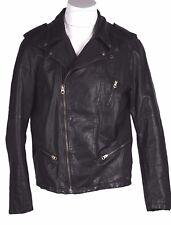 Scotch & Soda Leather Motorcycle Biker Jacket XXL RUNS SMALL SEE MEASUREMENTS