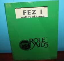 Fez 1 : Valley of Trees Role Aids Green booklet (1982)