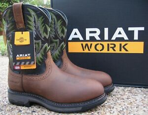 NEW Mens ARIAT Brown Leather WORKHOG H20 Waterproof Comp Toe Work Boots 10031561