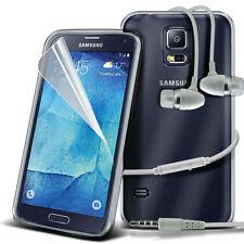Ultra Fino Transparente Funda De Gel & Manos libres para Samsung Galaxy S5 Neo