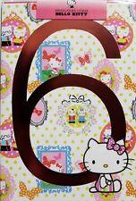 Happy 6th Birthday Hello Kitty card, female, butterflies, brand new