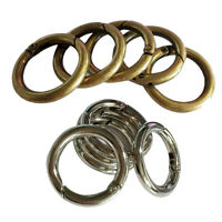 10Pcs Round Carabiner Hook Keyring Buckle 28mm Snap clips key chain/ring