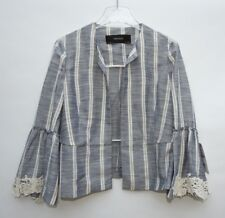 ZARA STRIPED JACKET WITH FLARED CUFFS SIZE SMALL