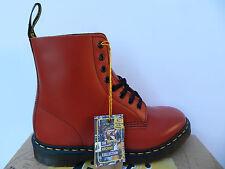 Dr Martens Pascal Vintage Red Chaussures 41 Bottes 1460 Bottines Femme Homme UK7