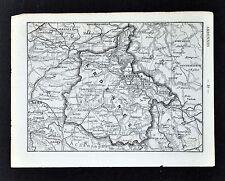 1878 France Petit Atlas Map - Ardennes & Ardeche - Mezieres Sedan Privas Tournon
