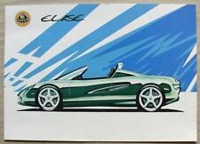 LOTUS ELISE Car UK Sales Specification Leaflet c1999