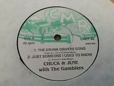 """CHUCK & JUNE WITH THE GAMBLERS * THE DRUNK DRIVERS SONG * 7"""" SINGLE EP CMEP 80"""