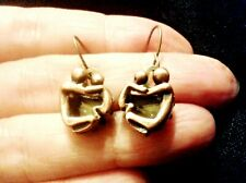 QUIRKY LOVELY MOTHER & CHILD CHARM EARRINGS BOHO KITSCH RETRO VINTAGE FUN FUNKY