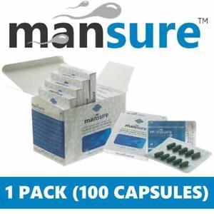 ManSure Men's Reproductive Health Ayurvedic Supplement - 1 Box(100 Veg capsules)