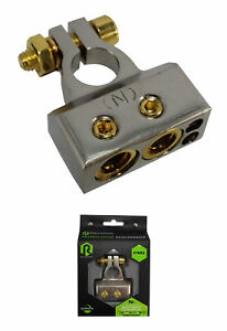 Pro Series Satin Nickel 1/0 or 4AWG to 8AWG Negative Battery Terminal R5BT048N