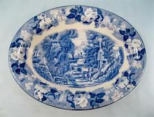 English Scenery Blue Nine Inch Oval Vegetable Bowl E Wood & Sons (O2) AS IS #3