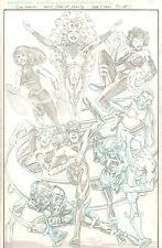 Teen Titans Pin-up - Nightwing, Starfire, & Flash - 1999 art by Scott Koblish