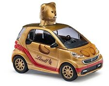 """Busch 46212 Smart Fortwo´12 """"Lindt Teddy"""" gold  1:87 Neu + OVP"""