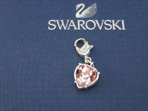 GENUINE Swan Signed SWAROVSKI  Pink Heart Charm #1051166
