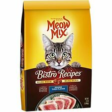 Meow Mix Bistro Recipes Seared Tuna Flavor Dry Cat Food, 12 Lb