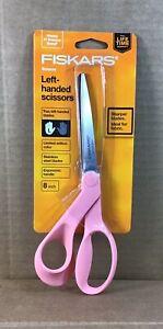 Single Fiskars 8 Inch Left-handed Pink Scissors