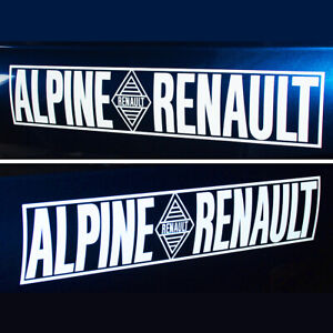 ALPINE - RENAULT white cut vinyl stickers decals lettering 450 x 90mm A110 A310