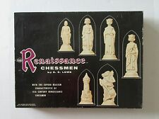 Vintage Renaissance CHESSMEN Board Game Chess 1959 15th Century Men E.S.Lowe