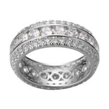 1.80 Ct White Round Diamond Matching Engagement Wedding Band 925 Sterling Silver