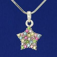 Wish Star W Swarovski Crystal Multicolor New Pendant Necklace Jewelry