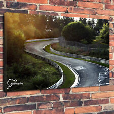 "Nürburgring Race Track Printed Box Canvas Picture A1.30""x20"" 30mm Deep Wall Art"