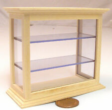 1 12 Scale Natural Finish Shop Counter Display Cabinet Dolls House Miniature 137