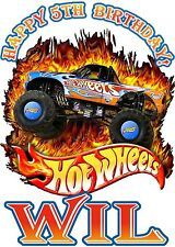 Hot Wheels Race Cars Racing Boy Birthday Party Shirt Iron On Transfer
