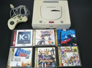 Sega Saturn Console white 1 Controller bundle 6 games Virtua Fighter