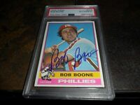 1976 TOPPS #318 BOB BOONE PHILADELPHIA PHILLIES SIGNED AUTOGRAPHED PSA/DNA