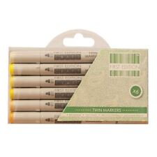 First Edition Twin Tip Marker Alcohol Longlife Craft Pens 6pk Set - Yellows