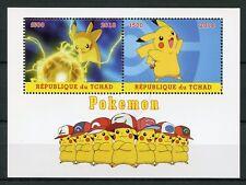 Chad 2018 CTO Pokemon Pikachu 2v M/S Stamps