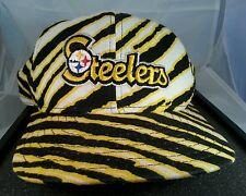 Vintage Zubaz Pittsburgh Steelers Cap Hat Made in the USA NFL Snapback