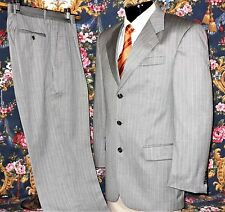 Paul Dione 3-Button Gray Pinstripe Suit Size 40R