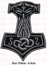 Thor mjolnir hammer viking biker skinhead  embroidered badge applique # 043