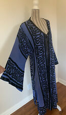 Vintage 1990s Blue Duster Robe Bathing Suit Cover Women's Extra-Large