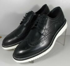 302225 TSP50 Men's Shoes Size 9 M Black Leather Lace Up H.S. Trask