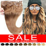 CLEARANCE AAA+ Clip in Human Hair Extensions Full Head 100% Real Remy Hair P349