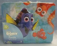 Disney Pixar Finding Dory Tin Lunchbox and 24 PCS Puzzle NEW