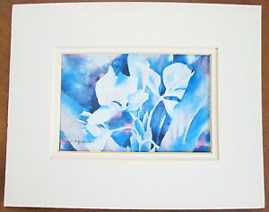SIGNED matted HAWAII  FLORAL PRINT by Gay Jefferson