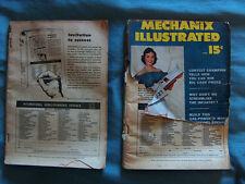 2 Mechanix Illustrated Mag, '49 Merc, Willys, MG, July '48, June '52